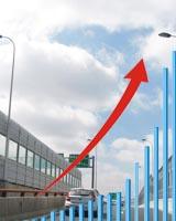 2011年度市政道路高架声屏障工程城市分布统计表