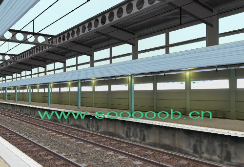 香港地铁上水站隔音结构(隔音屏障)