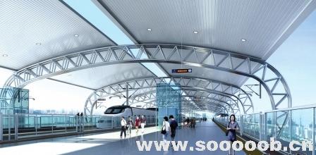 该站为地上二层双岛式站台车站,旅客上下火车都在桥梁上.