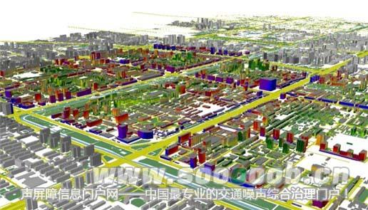 美国也公布了许多城市和飞机场的噪声地图,并在绘制噪声地图的