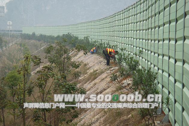 桂林外环快速公路玻璃钢声屏障工程案例